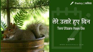 Gulzar – Tere Utaare Huye Din | गुलज़ार – तेरे उतारे हुए दिन | Poetry