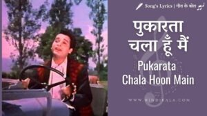 Read more about the article Mere Sanam (1965) – Pukarata Chala Hoon Main   पुकारता चला हूँ मैं   Mohammad Rafi