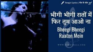 Adnan Sami – Bheegi Bheegi Raaton Mein   भीगी भीगी रातों में फिर तुम आओ ना   Album – Kabhi To Nazar Milao (2000)