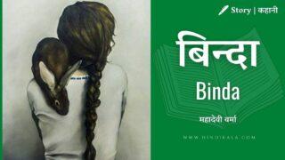 Mahadevi Varma – Binda | बिन्दा | महादेवी वर्मा | Story