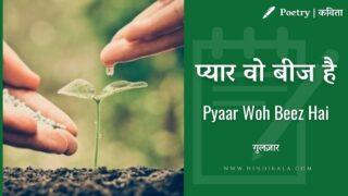 Gulzar – Pyaar Woh Beez Hai | गुलज़ार – प्यार वो बीज है | | Poetry